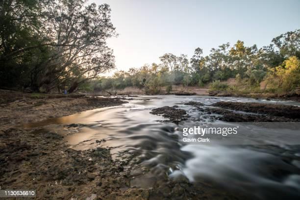 Sunrise over a river in Far North Queensland