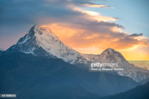 Sunrise over Annapurna mountain range