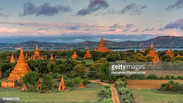 Sunrise over Bagan Temples at Early Morning, Bagan, Myanmar