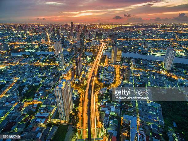 Sunrise over Bangkok Metropolitan Area