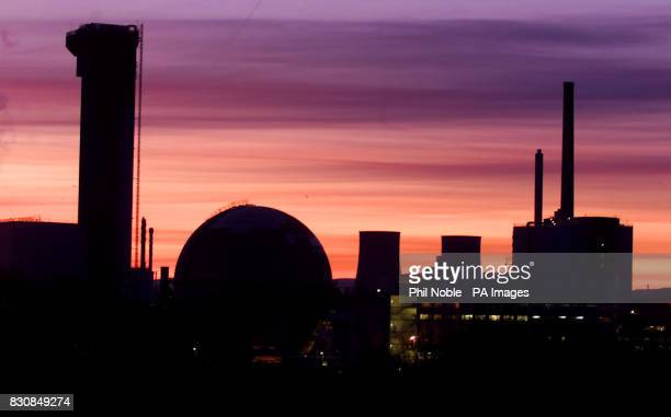 Sunrise over BNFL's nuclear reprocessing plant at Sellafield Cumbria More than a million postcards were being delivered to Prime Minister Tony Blair...