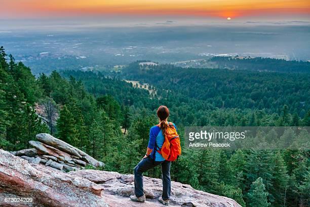 Sunrise over Boulder from second Flatiron