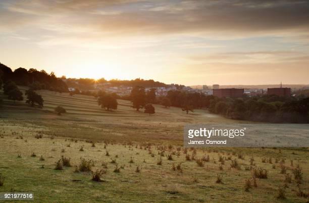 Sunrise over Bristol City Skyline