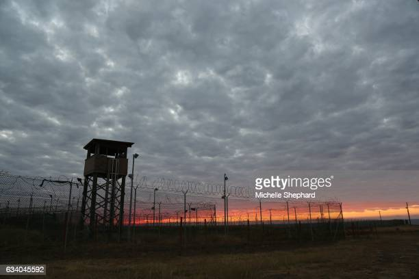 "Sunrise over Camp Delta on Jan. 29, 2017. U.S. President Donald Trump has vowed to keep the prison camp open and load it up with ""bad dudes."""