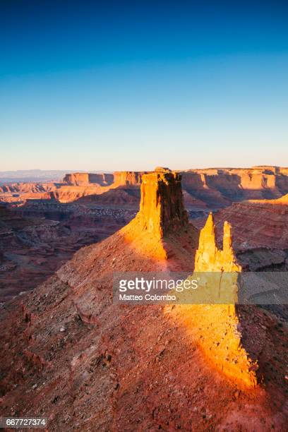 sunrise over canyonlands national park, utah, usa - canyonlands national park stock pictures, royalty-free photos & images