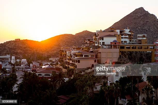 Sunrise over city, Cabo San Lucas, Mexico