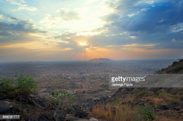 sunrise over city of juba in south sudan. - south sudan stock pictures, royalty-free photos & images