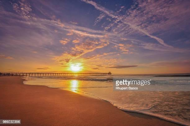 sunrise over coastline, north carolina, usa - north carolina stock pictures, royalty-free photos & images