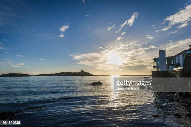 sunrise over dalkey - dalkey stock pictures, royalty-free photos & images