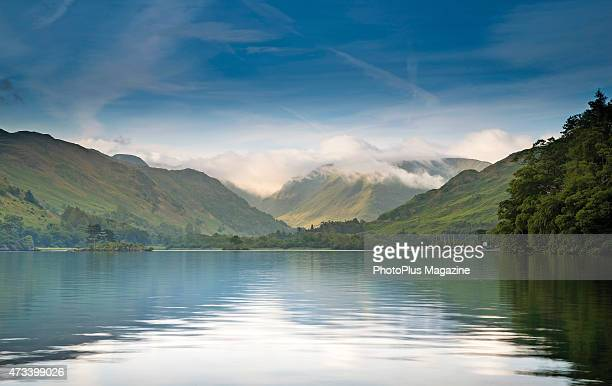 Sunrise over Derwent Water in Lake District National Park England on July 16 2014