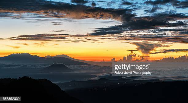 sunrise over east java, indonesia - caldera stock pictures, royalty-free photos & images