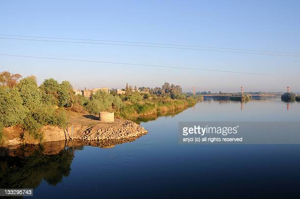 Sunrise over Euphrates River in Deir ez-Zor, Syria