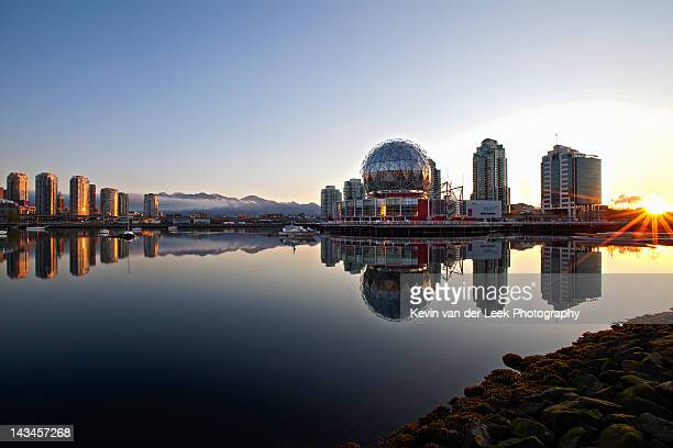 sunrise over false creek - dome stock pictures, royalty-free photos & images