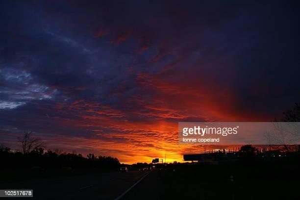 Sunrise over Flint, Michigan
