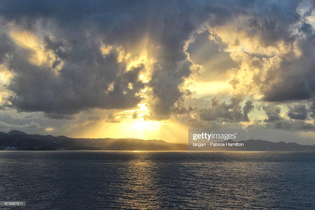 Sunrise over Grenada, Caribbean : Stock Photo