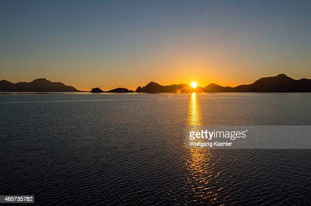 Sunrise over Isla Carmen near Puerto Escondido Sea of Cortez Baja California Mexico