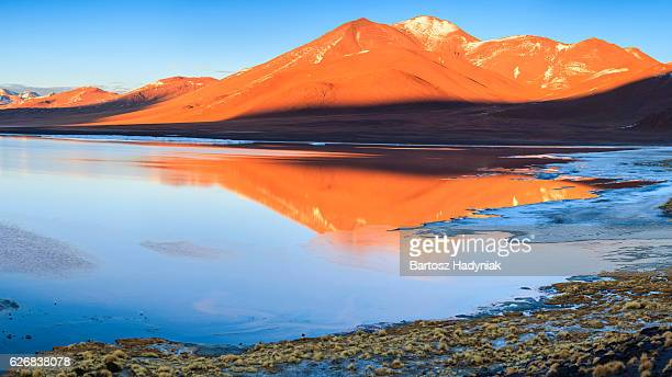 Sunrise over Laguna Colorada, Bolivian Altiplano