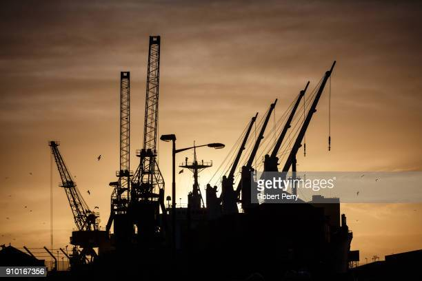 Sunrise over Leiths Imperial Dry Dock on January 25 2018 in Leith Scotland The Scottish Government today announced £15 million of a total £5 million...