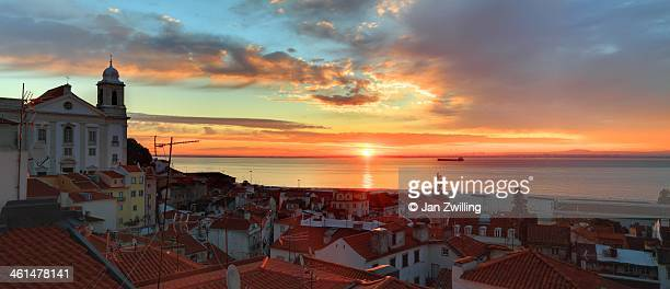 Sunrise over Lisbon Old Town