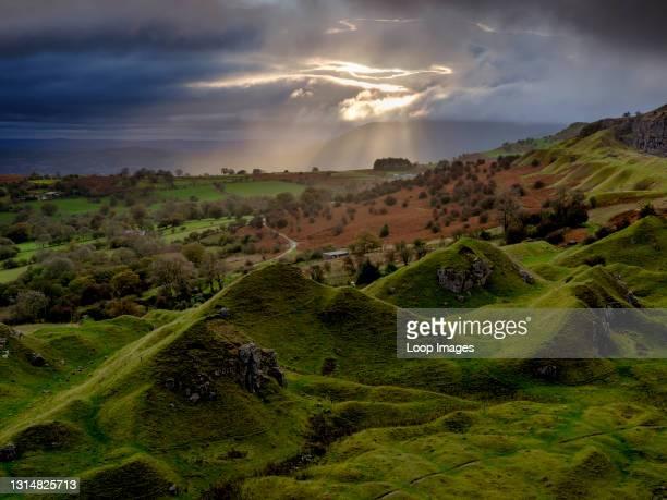 Sunrise over Llangattock Escarpment in the Brecon Beacons.