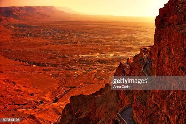 Sunrise over Masada and Judaean Desert
