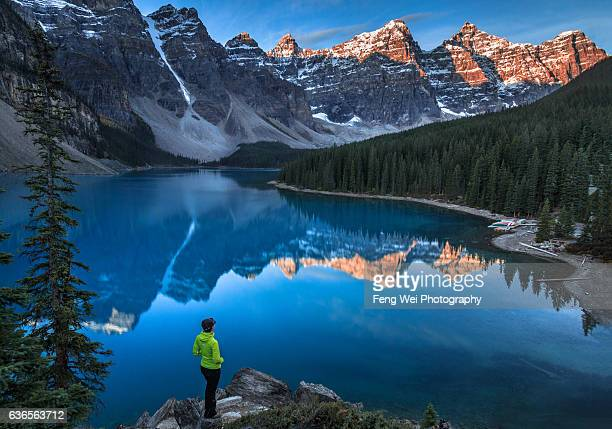 Sunrise Over Moraine Lake & Valley Of The Ten Peaks, Banff National Park, Alberta, Canada