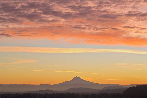 Sunrise Over Mount Hood From Mount Tabor Wall Art