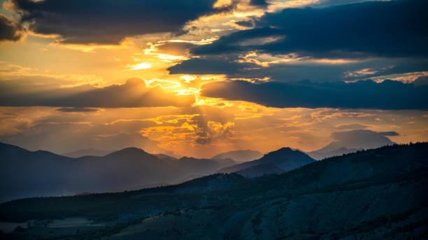 Sunrise over mountain range in Turkey