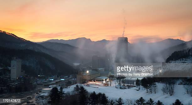 Sunrise over Pyeongchang-gun