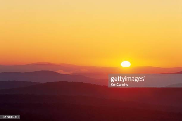 Sunrise Over Rolling Vermont Mountains