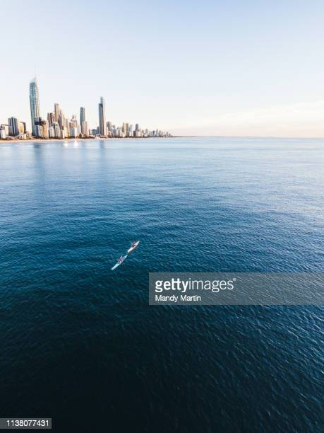sunrise over surfers paradise - gold coast queensland stock pictures, royalty-free photos & images
