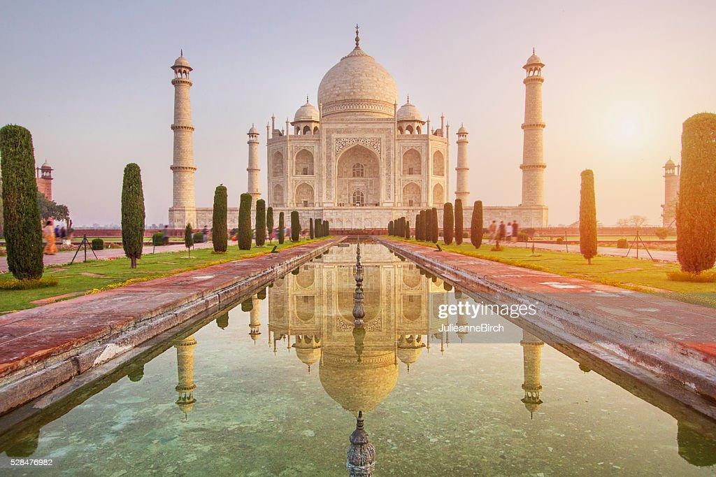 Sunrise over Taj Mahal : Stock Photo