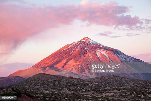 sunrise over teide national park - pico de teide stock pictures, royalty-free photos & images
