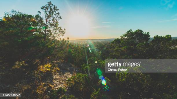 sunrise over texas - san gabriel mountains stock pictures, royalty-free photos & images