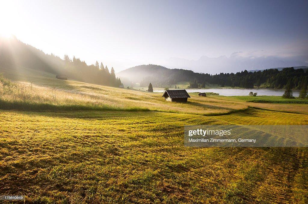 Sunrise over the Bavarian Alps : Stock-Foto