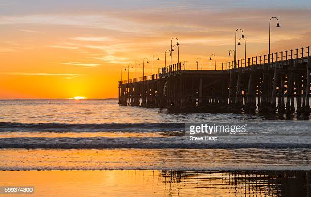 Sunrise over the beach and pier at Coffs Harbour, New South Wales, Australia