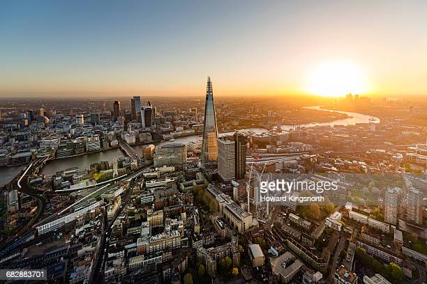 Sunrise over the City of London and Shard