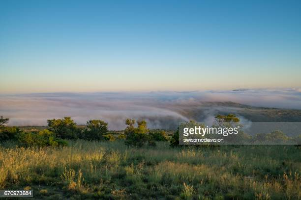 Sunrise over the clouds in the Savannah
