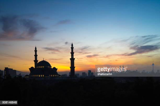 Sunrise over The Federal Territory Mosque