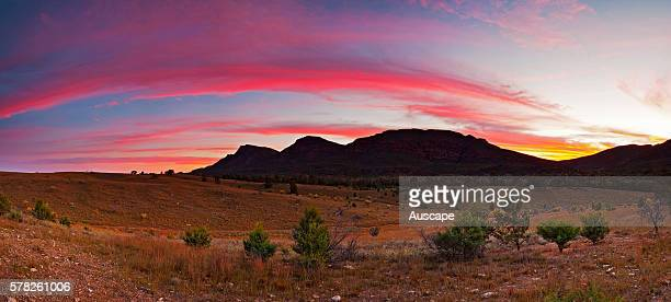 Sunrise over the Flinders Ranges Flinders Ranges National Park South Australia