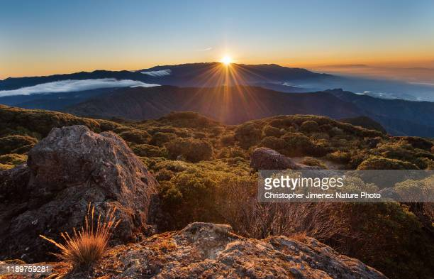 sunrise over the highlands of costa rica - christopher jimenez nature photo stock pictures, royalty-free photos & images