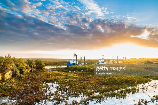 Sunrise over the marshes on the North Norfolk coast