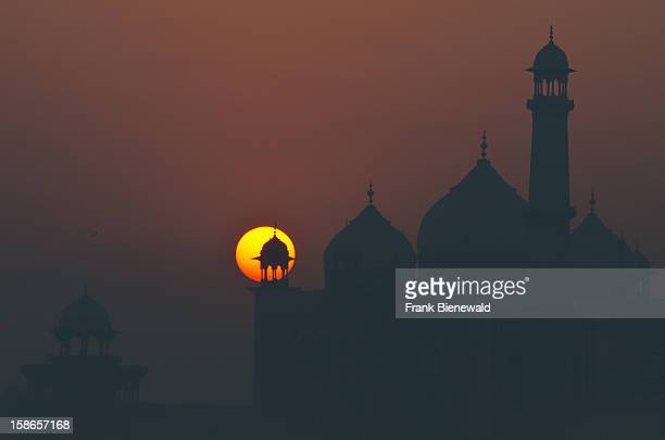Sunrise over the most beautiful building of the world the Taj Mahal