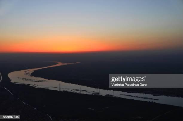 Sunrise over the Nile in a hot air balloon