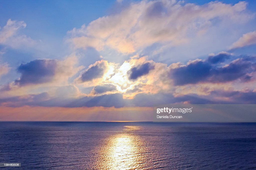 Sunrise over the ocean : Stock Photo