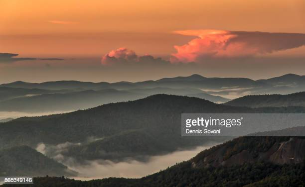 Sunrise over the Pisgah National Forest
