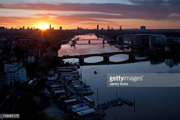 Sunrise over the River Thames