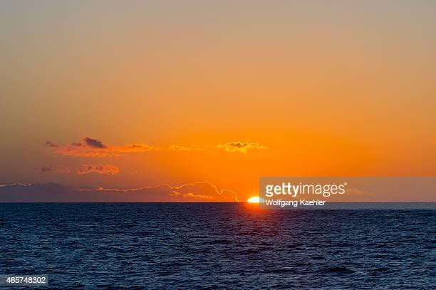 Sunrise over the Sea of Cortez at Aqua Verde near Loreto in Baja California Mexico