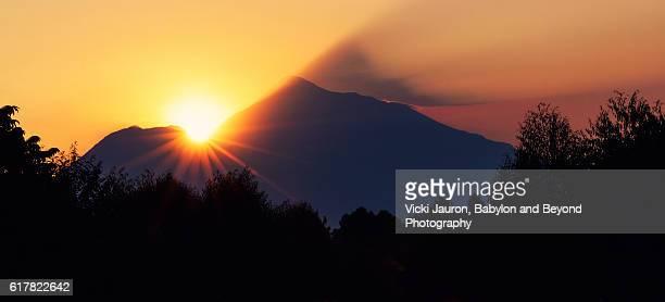 Sunrise Over the Virunga Mountains in Rwanda