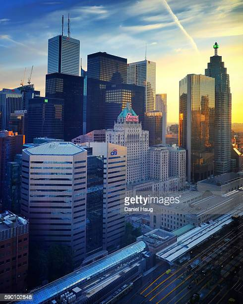 Sunrise over Toronto's Financial District